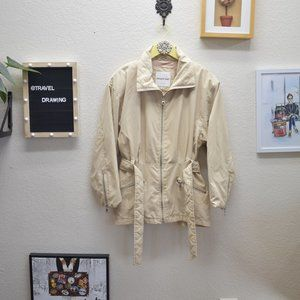Andrew Marc Quilted Tan Trench Coat